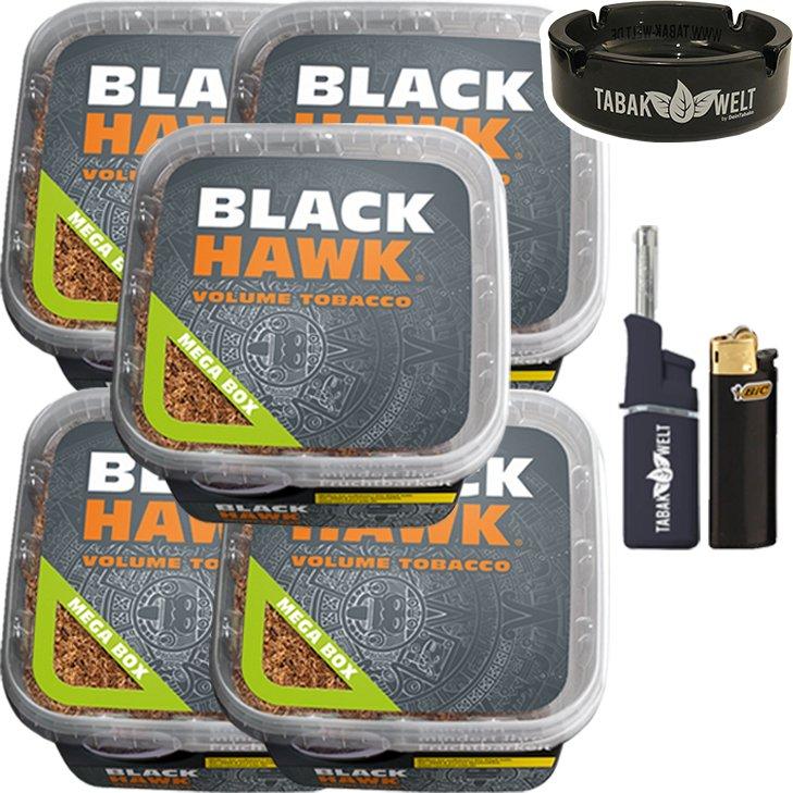Black Hawk 5 x 230g mit Glasaschenbecher