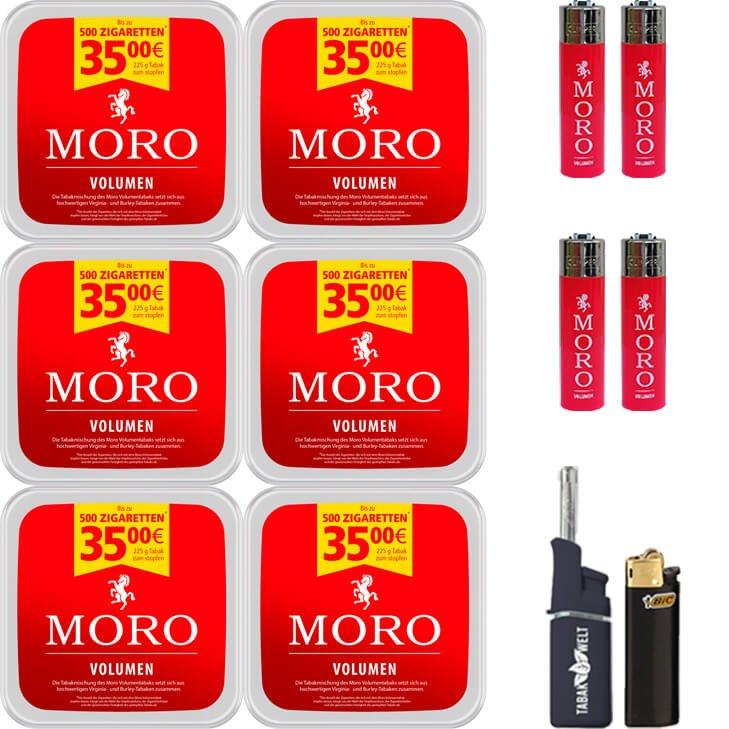 Moro Volumen 6 x 225g mit Clipper Feuerzeugen