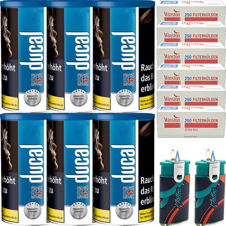 Ducal Blue 6 x 200g mit 1500 Special Size Filterhülsen