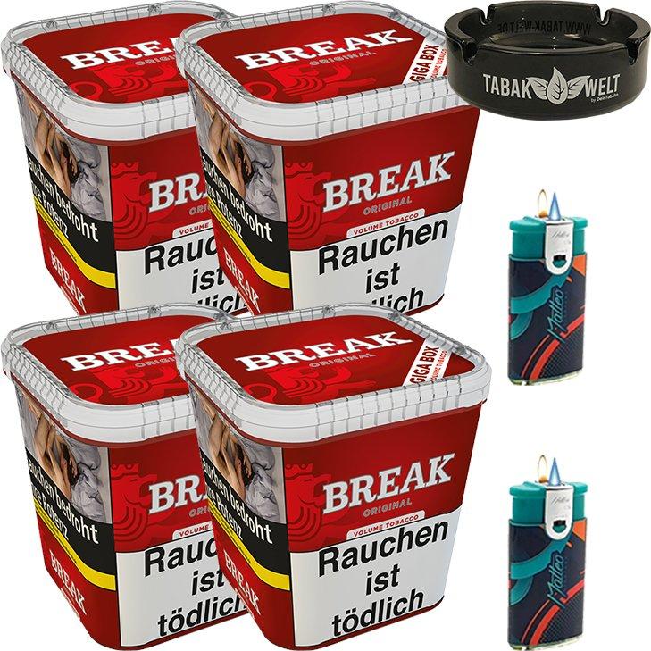 Break Original 4 x 230g mit Glasaschenbecher