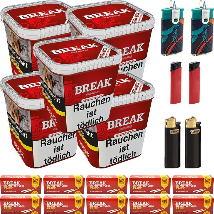 Break Original 5 x 230g mit 2000 Plus Hülsen