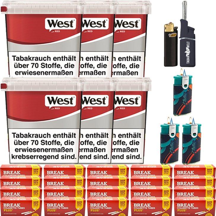 West Red 6 x 280g mit 4000 Plus Hülsen