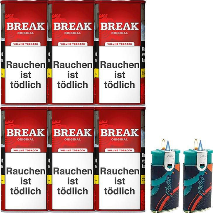 Break Original 6 x 115g mit Duo Feuerzeugen