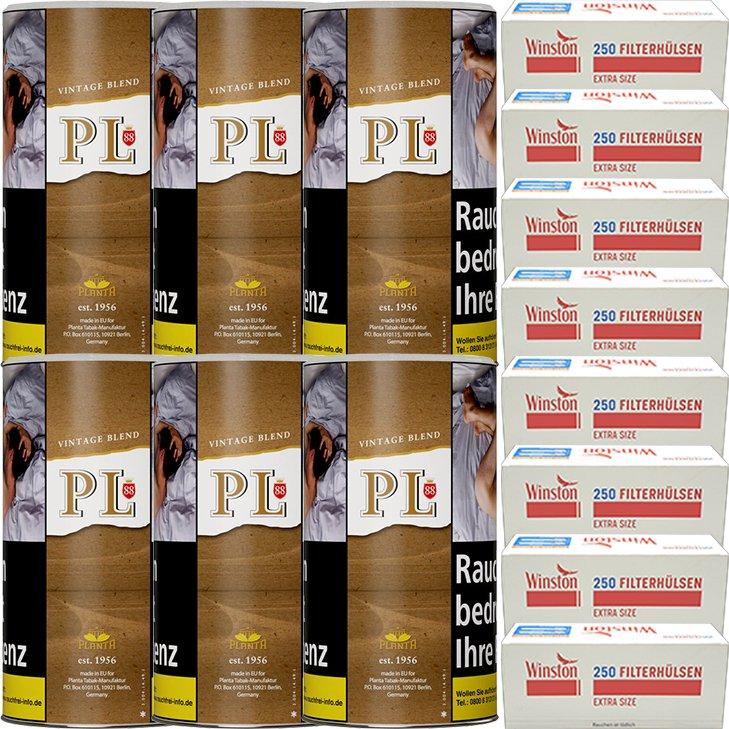PL88 Vintage Blend 6 x 180g mit 2000 Special Size Hülsen