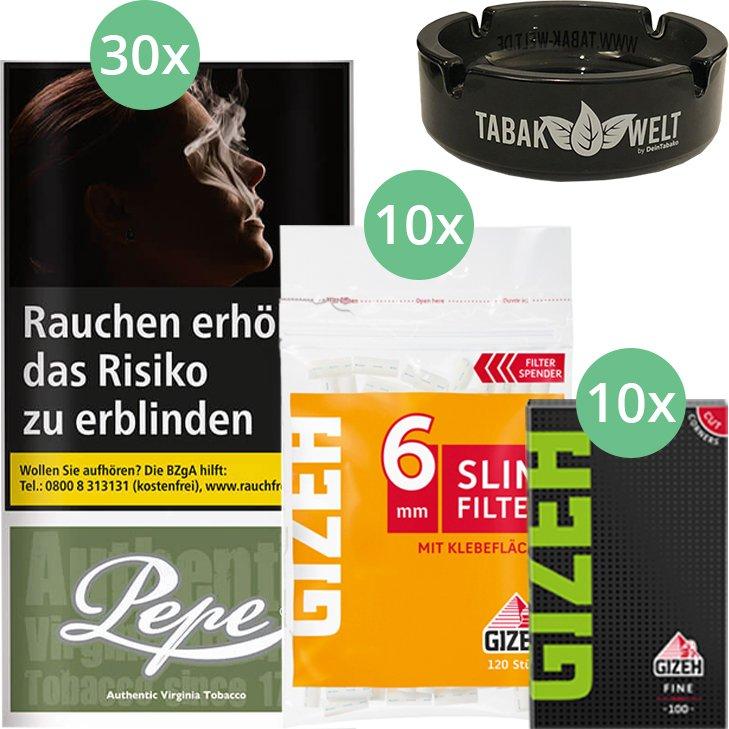 Pepe Rich Green 30 x 30g mit Gizeh Blättchen und Filter
