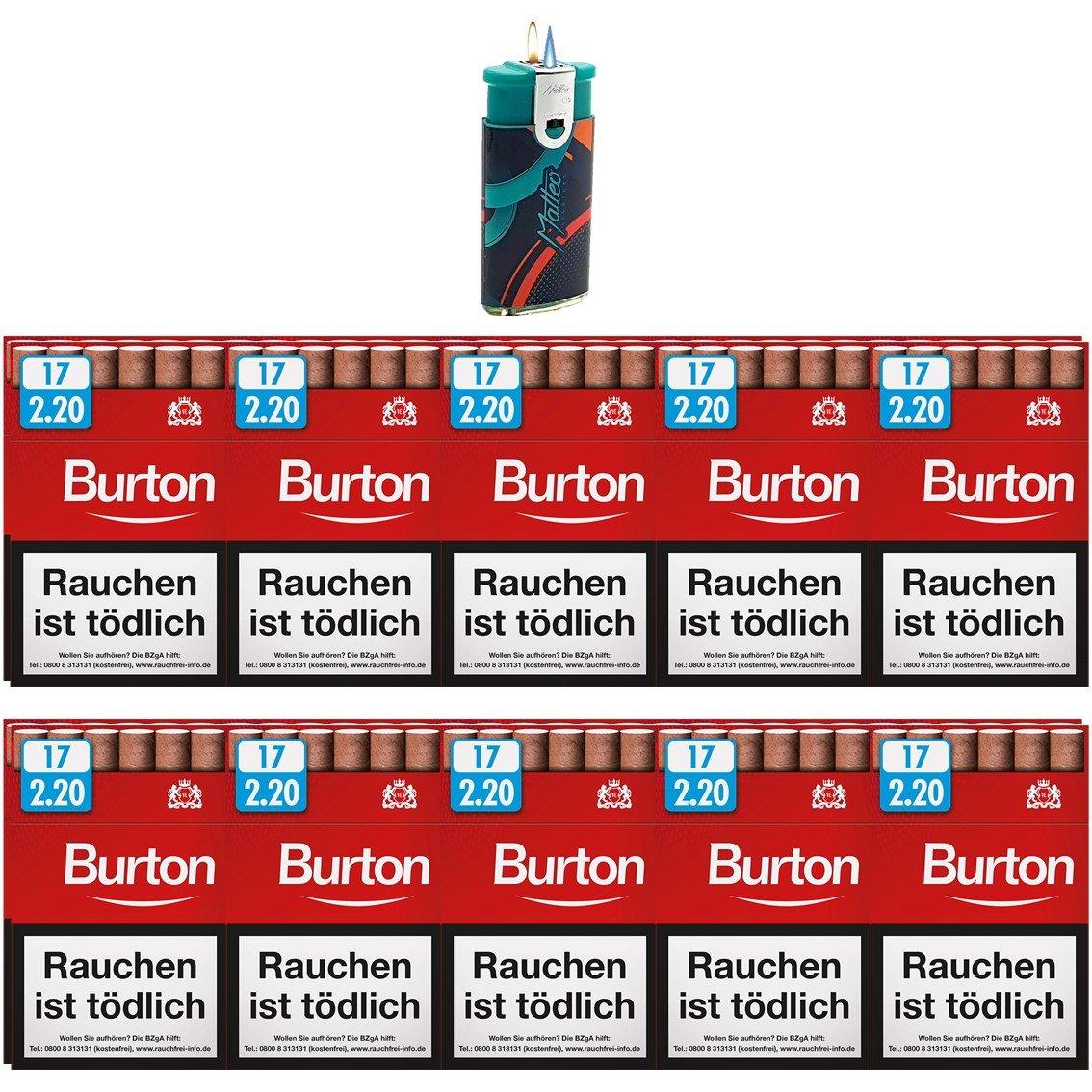 Burton Original Zigarillos mit Filter (2 Stangen) 20 x 17 Stück