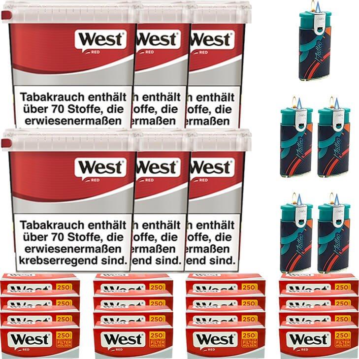 West Red 6 x 280g mit 4000 Special Size Hülsen