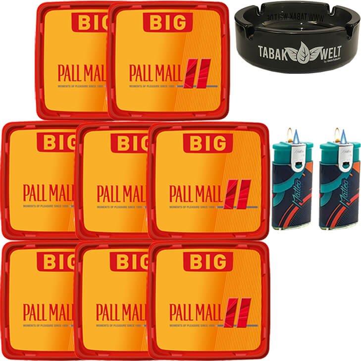 Pall Mall Allround Red 8 x 120g mit Glasaschenbecher