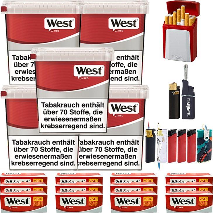 West Red 5 x 260g mit 3000 Special Size Hülsen