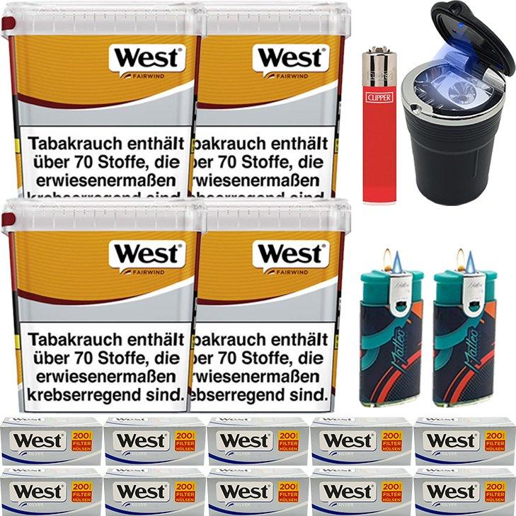 West Yellow Fairwind 4 x 310g mit 2000 Silver King Size Hülsen