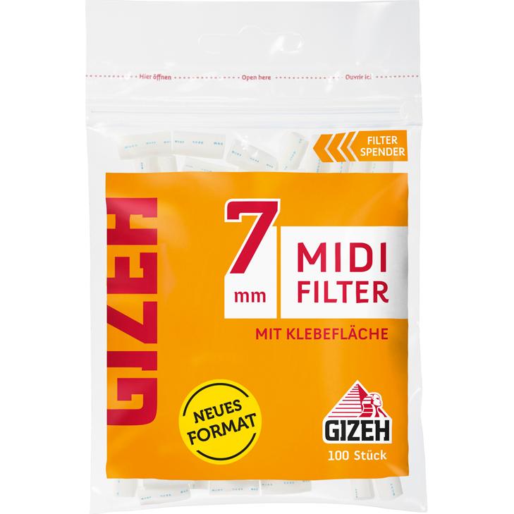 Gizeh Midi Filter 7 mm 100 Stück