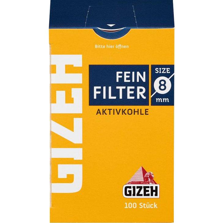 Gizeh Aktivkohlefilter 8 mm 100 Stück