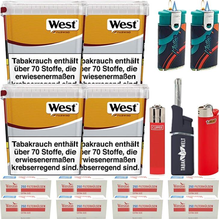 West Yellow Fairwind 4 x 310g mit 2000 Extra Size Hülsen