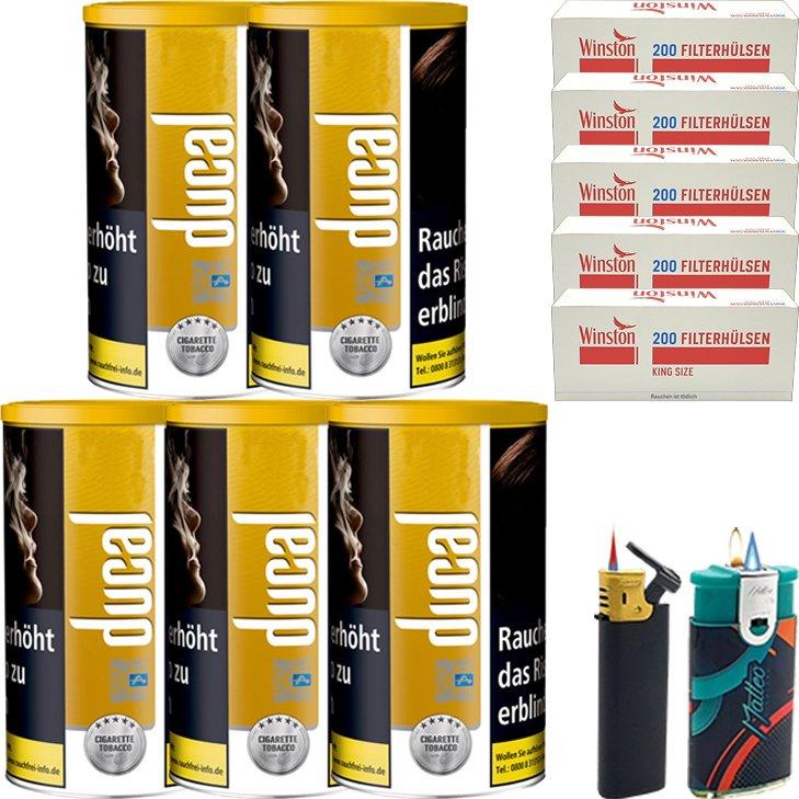 Ducal Gold 5 x 200g mit 1000 King Size Filterhülsen