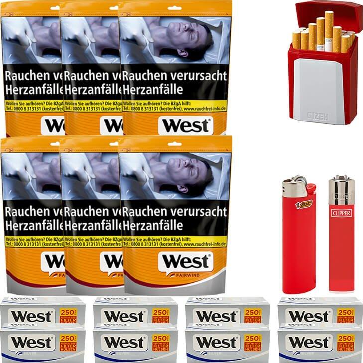 West Yellow Fairwind 6 x 155g mit 2000 Special Size Silver Hülsen