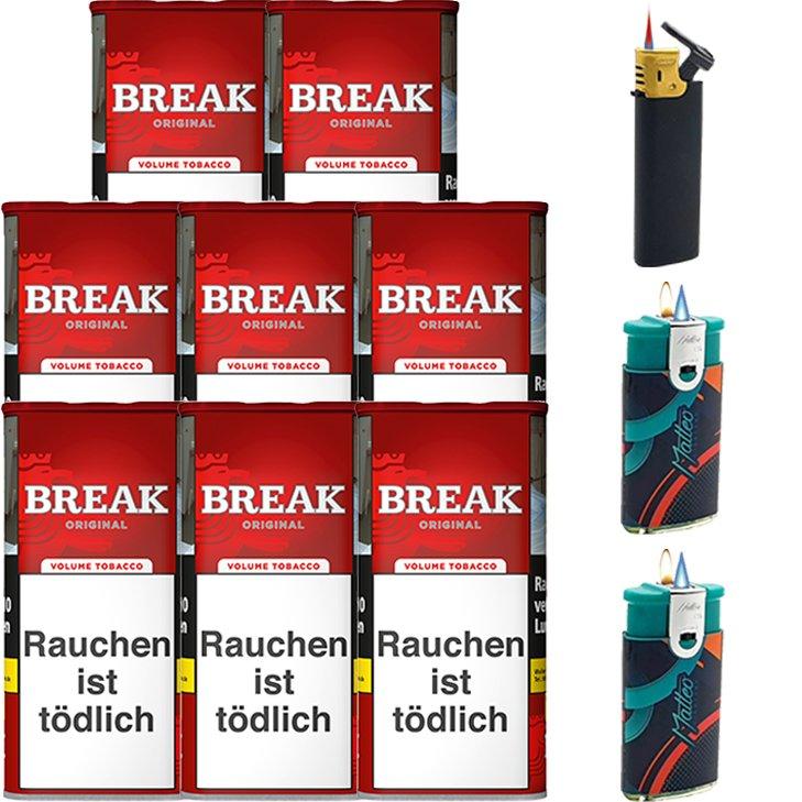 Break Original 8 x 115g mit Feuerzeugen