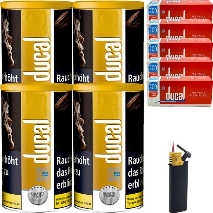 Ducal Gold 4 x 200g mit 1000 Filterhülsen