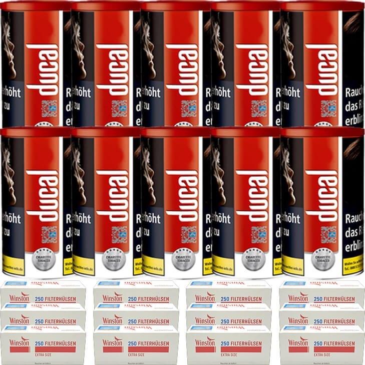 Ducal Red 10 x 200g mit 3000 Special Size Filterhülsen