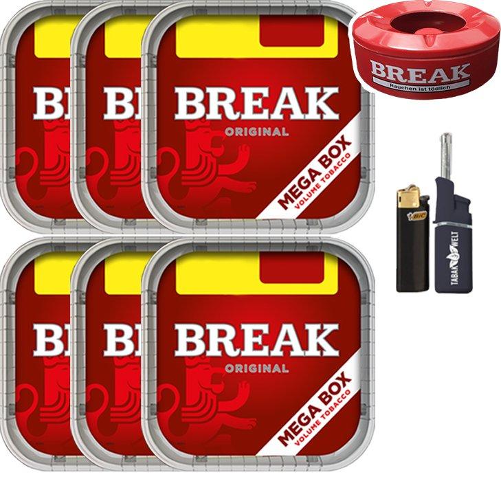 Break Original 6 x 170g mit Aschenbecher