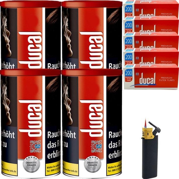 Ducal Red 4 x 200g mit 1000 Filterhülsen