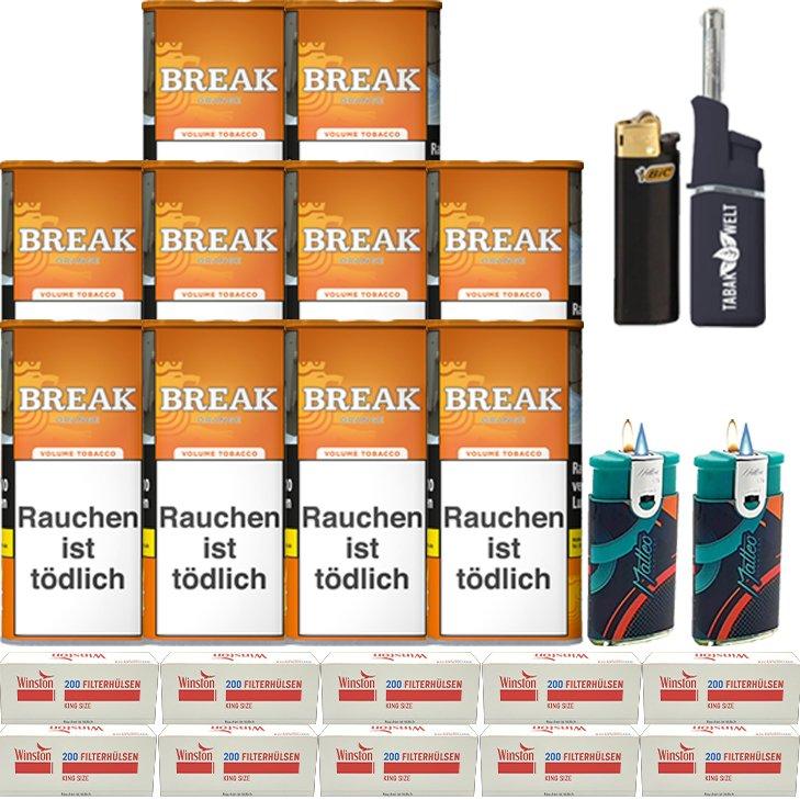Break Orange 10 x 110g mit 2000 King Size Hülsen