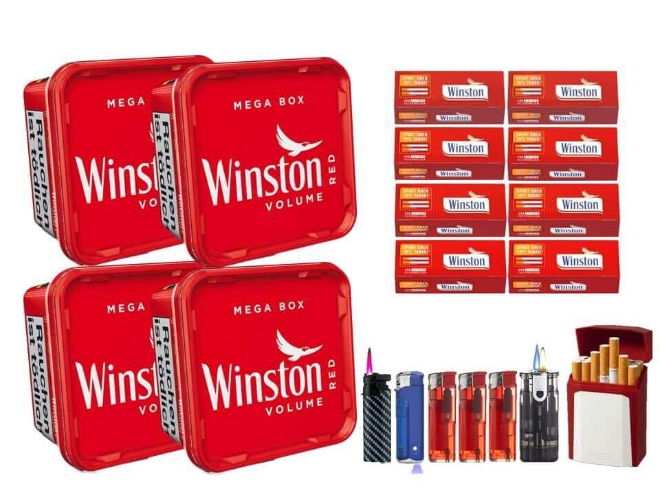 Winston Mega Box 4 x 155g mit 2000 Extra Size Filterhülsen
