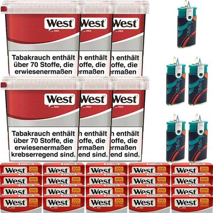 West Red 6 x 260g mit 4000 King Size Hülsen