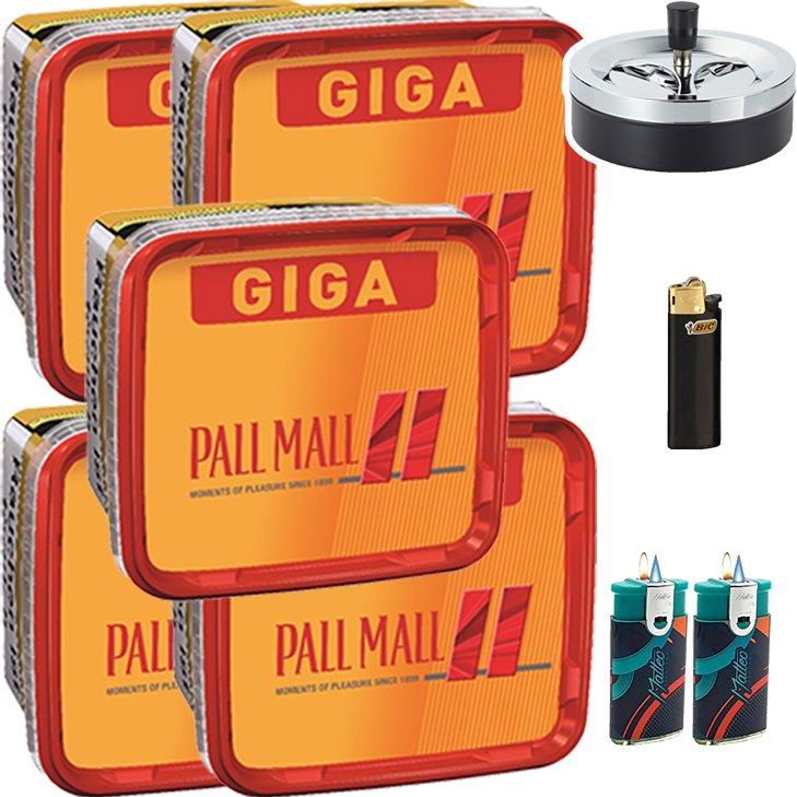 Pall Mall Allround Red 5 x 260g mit Aschenbecher