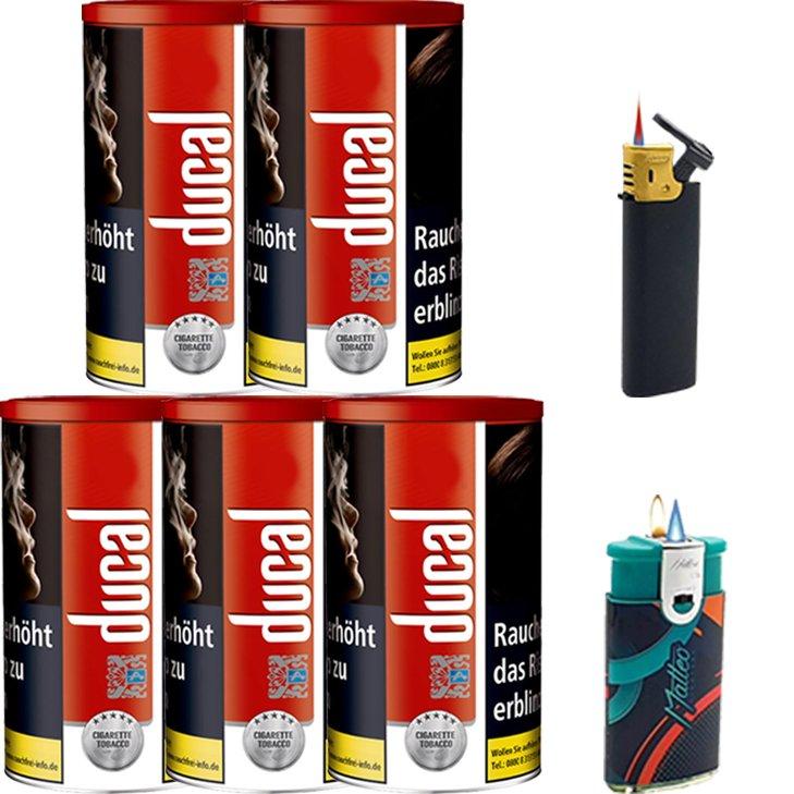 Ducal Red 5 x 200g mit Feuerzeugen