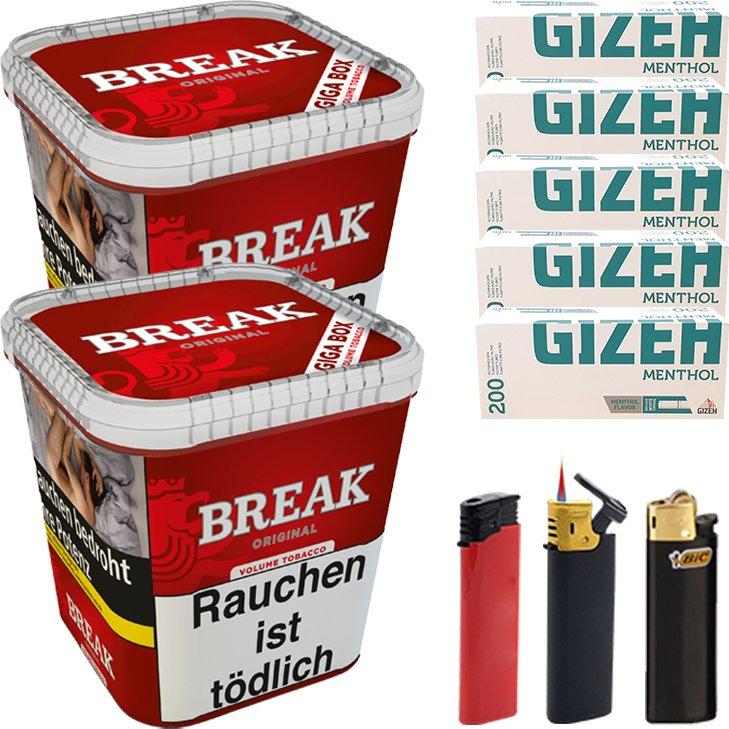 Break Original 2 x 230g mit 1000 Menthol Hülsen