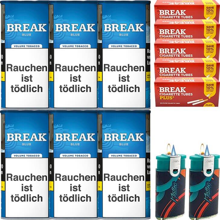 Break Blue / Blau 6 x 115g mit 1000 Plus Hülsen
