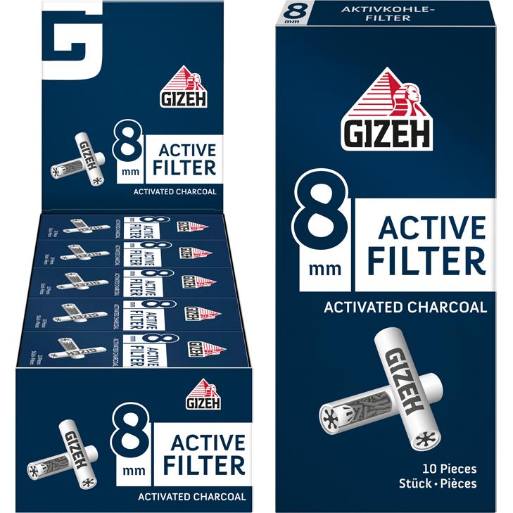 Gizeh Active Filter 8 mm 25 x 10 Stück