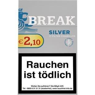 Break Silver Zigarillos mit Filter (6 Stangen) 60 x 17 Stück Uvm.
