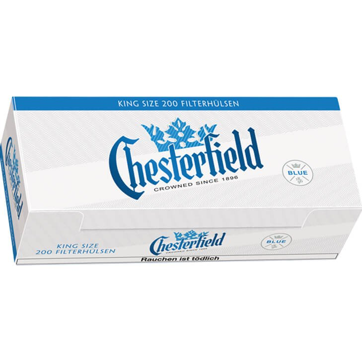 Chesterfield Red 4 x 310g mit 2000 King Size Hülsen