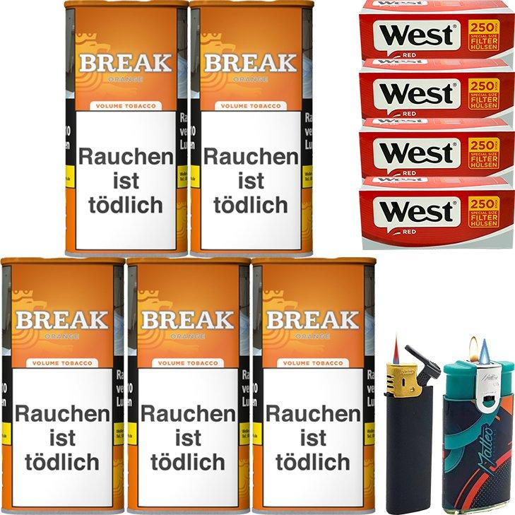 Break Orange 5 x 110g mit 1000 Special Size Hülsen