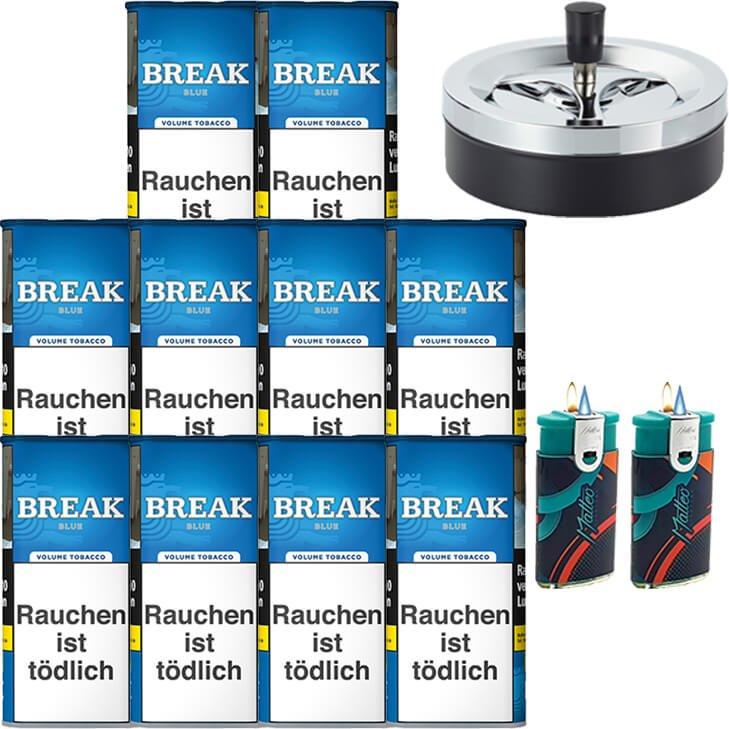 Break Blue / Blau 10 x 115g mit Aschenbecher