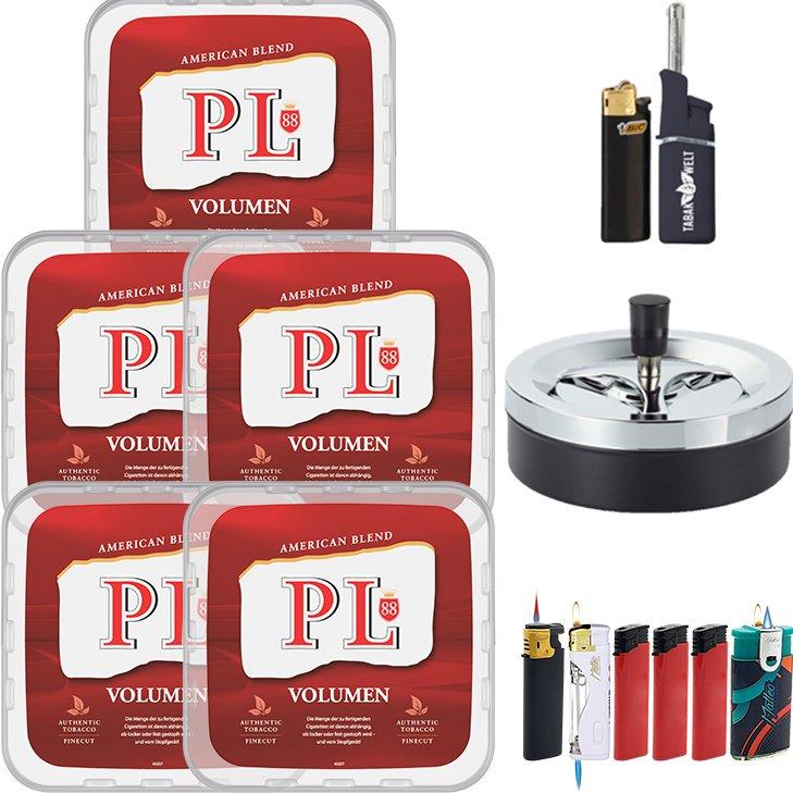 PL88 Red 5 x 365g mit Aschenbecher