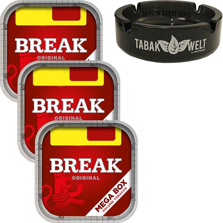 Break Original 3 x 170g mit Glasaschenbecher