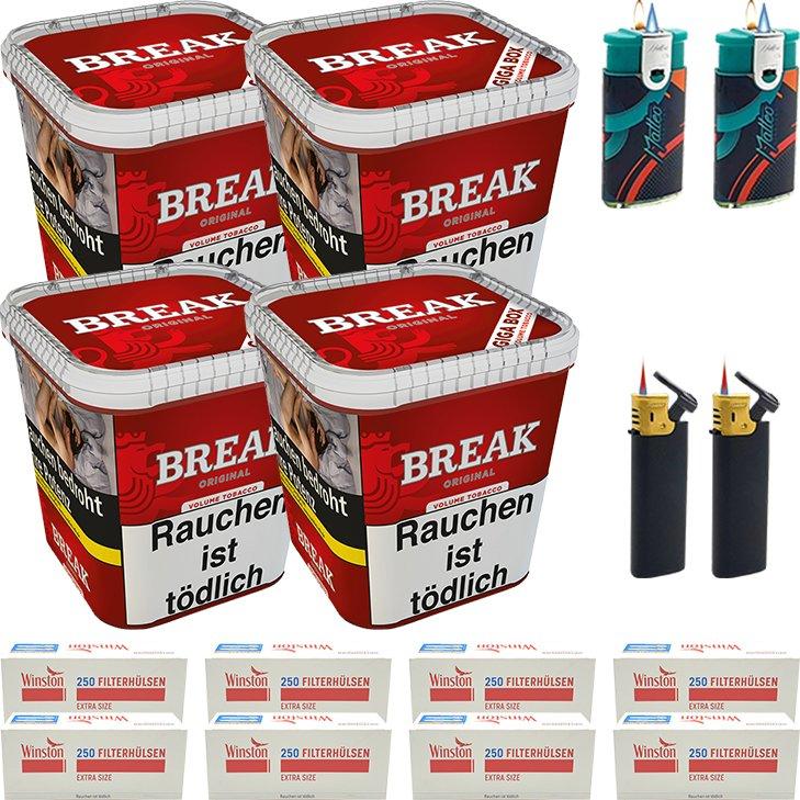 Break Original 4 x 230g mit 2000 Extra Size Hülsen