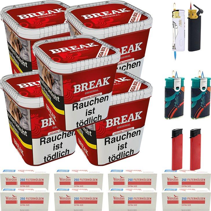 Break Original 5 x 230g mit 2000 Special Size Hülsen