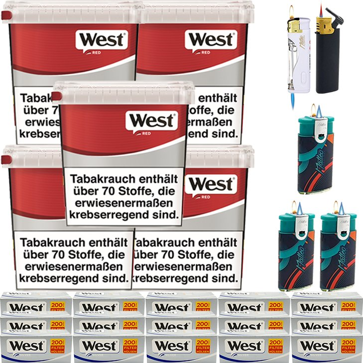 West Red 5 x 260g mit 3000 Silver Hülsen