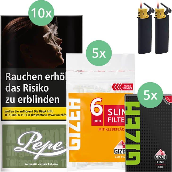 Pepe Rich Green 10 x 30g mit Gizeh Blättchen und Filter