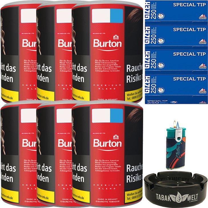 Burton Original 6 x 120g mit 1000 King Size Hülsen