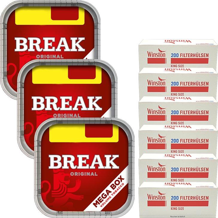 Break Original 3 x 170g mit 1200 King Size Hülsen