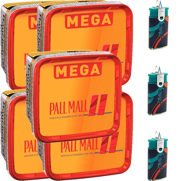 Pall Mall Allround 5 x 155g mit Duo Feuerzeugen
