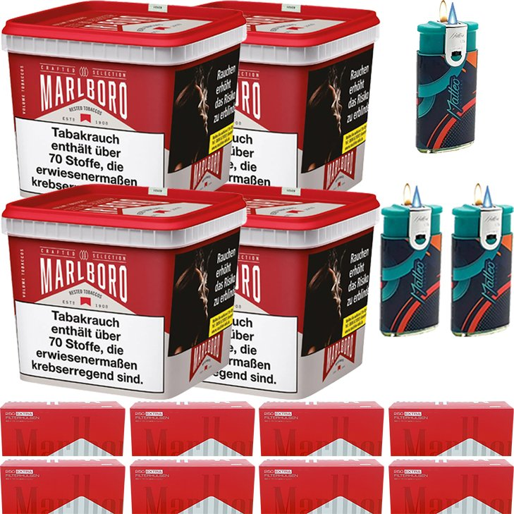 Marlboro Crafted Selection 4 x 270g mit 2000 Extra Size Hülsen