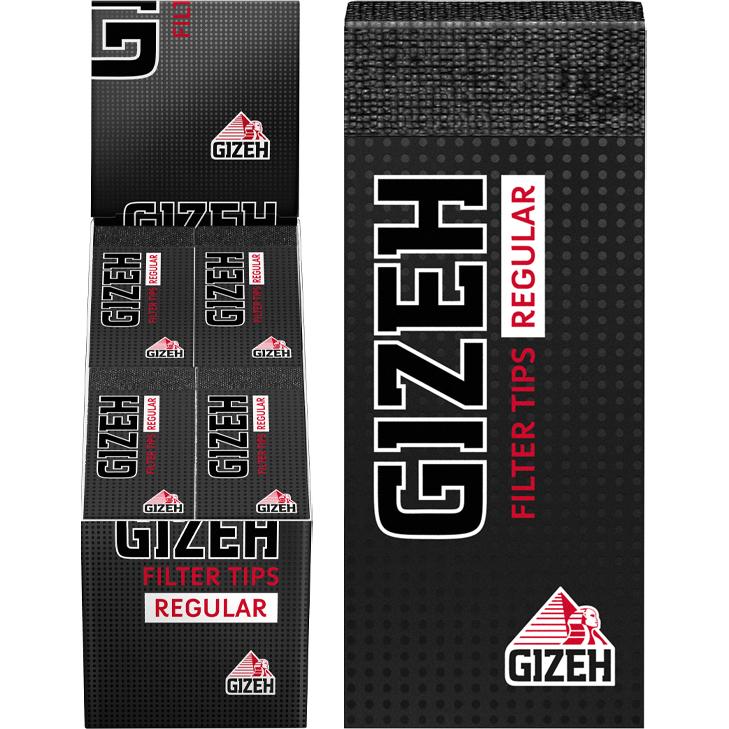 Gizeh Black Filter Tips Regular 24 x 35 Blatt
