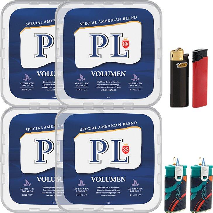 PL88 Blue / Blau 4 x 365g mit Feuerzeugen
