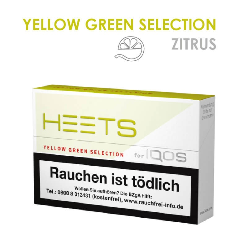 IQOS Heets Yellow Green Selection 10 x 20 Stück