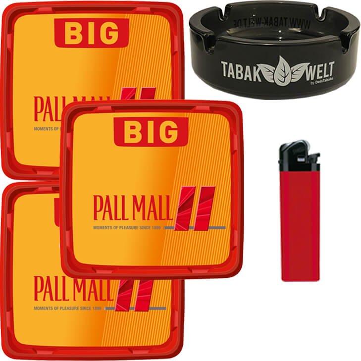 Pall Mall Allround Red 3 x 120g mit Glasaschenbecher